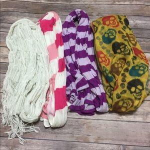 Bundle of Four Scarves